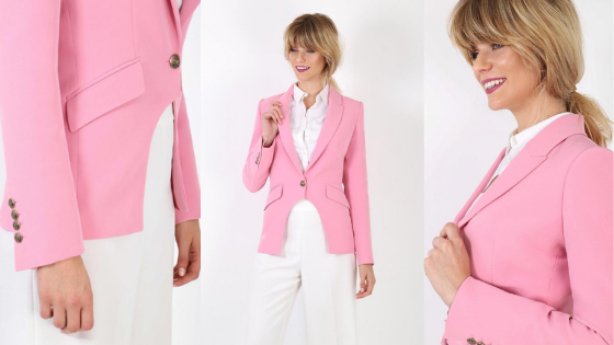 01a5b7dc1cf Chaqueta con corte tipo frac en color rosa para alegrar tus look  primaverales The Extreme Collection