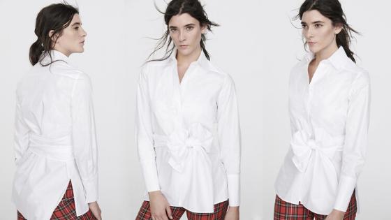 Camisa blanca lazada cintura The Extreme Collection