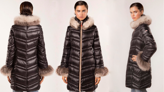 Parka larga negra de Dichi Collection