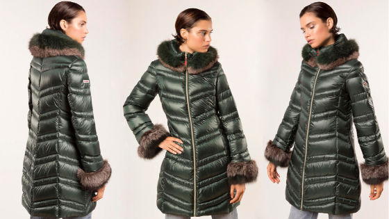 Parka verde larga Dichi Collection