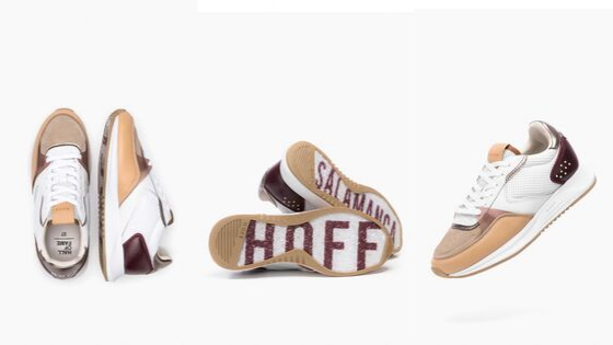 Modelo de zapatillas blancas Salamanca de la colección de Hoff