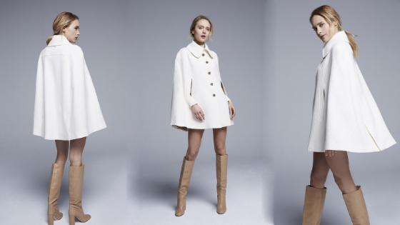 Abrigo capa blanca Pati Conde Collection